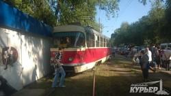 В Одессе сошел с рельс трамвай (ФОТО)