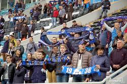 """Большой футбол в Одессе: """"ультрас"""" устроили на стадионе """"Черноморец"""" настоящую дымзавесу (ФОТО)"""