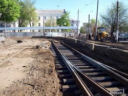 Реконструкция Старосенной площади в Одессе: плитка в сквере и новые рельсы (ФОТО)