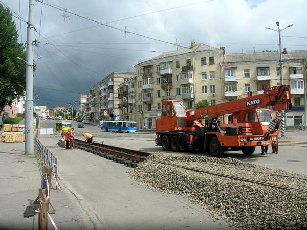 ремонт трамвайных путей в виннице