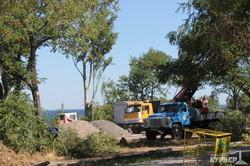 В Одессе около Чкаловского пляжа на Трассе Здоровья идет стройка (ФОТО)