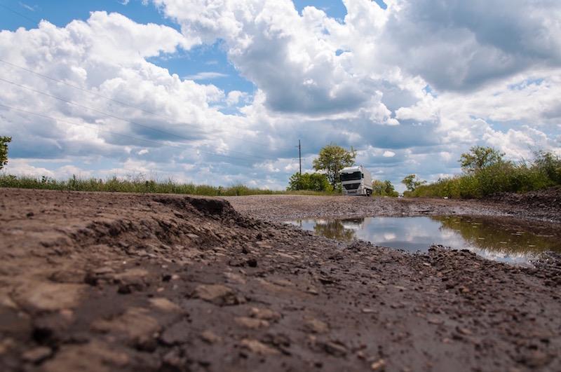 Участок дороги до ремонта