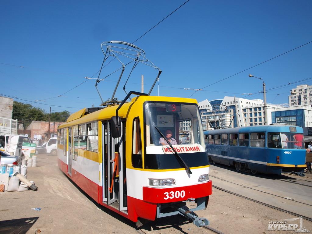 новый трамвай одесского производства