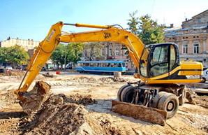 Ремонт Тираспольской площади в Одессе в последний день движения трамваев (ФОТО)