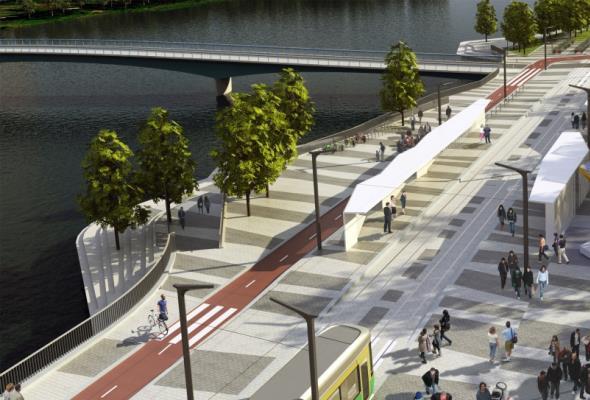 В Хельсинки построят один из длиннейших трамвайно-пешеходных мостов в мире