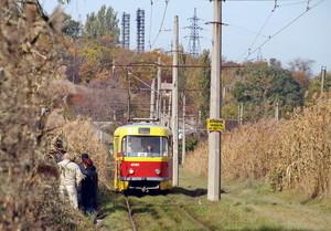 """Дождь остановил движение """"камышового"""" трамвая в Одессе"""