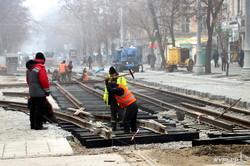 Тираспольская площадь: состоялся пробный запуск движения трамвая по новоустановленным рельсам (ФОТО, ВИДЕО)