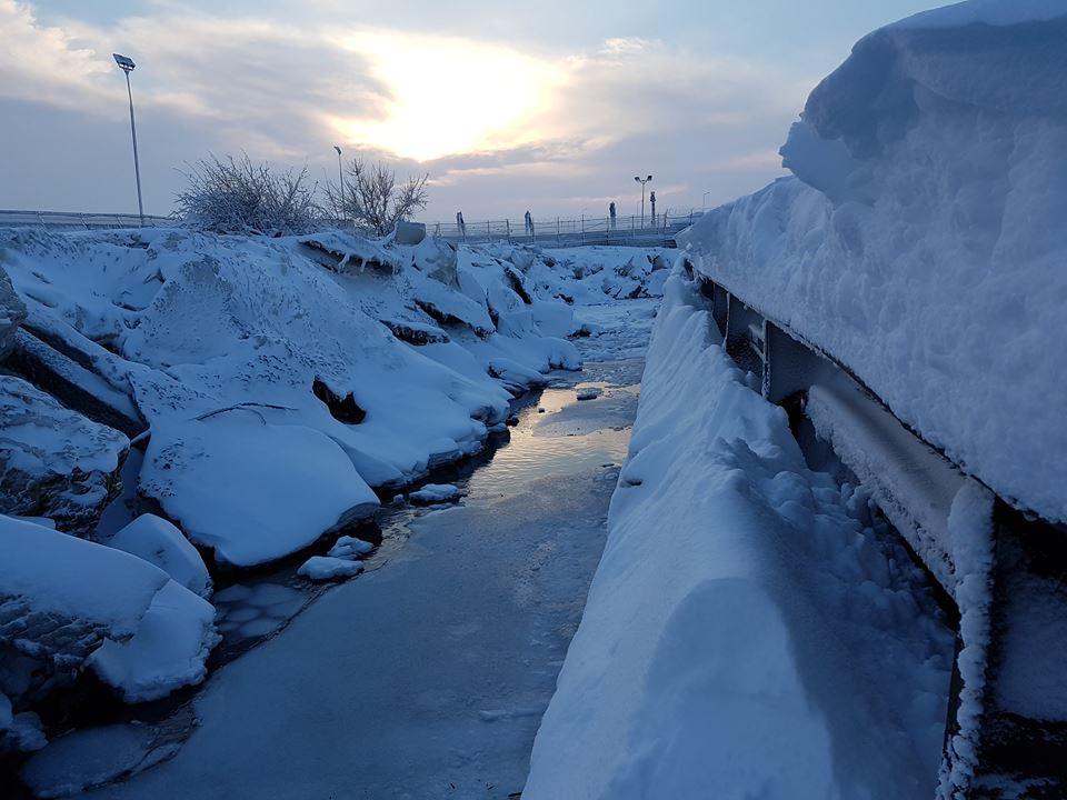Дунай сковало льдом