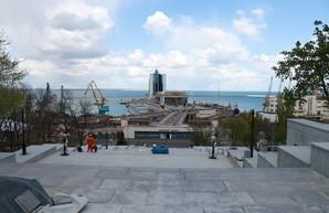 Реконструкция одесской Потемкинской лестницы: до финиша осталось меньше месяца (ФОТО)