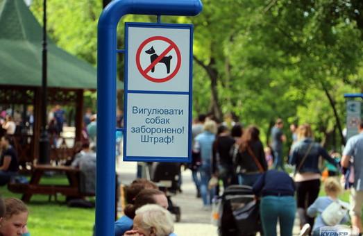 Мэр Одессы обещает не допустить загаживания Стамбульского парка собаками