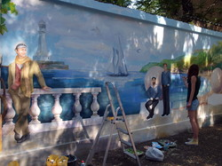 В Одессе на Канатной появились тетя Соня, Остап Бендер и моряки (ФОТО)