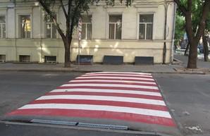 Около семи одесских школ появились приподнятые пешеходные переходы (ФОТО)