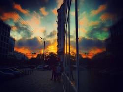 Впечатляющий закат у одесского Привоза (ФОТО)