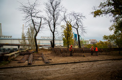 Греческий парк в Одессе: что уже успели сделать (ФОТО)