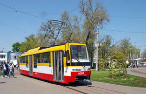 Фото дня: новые одесские трамваи на улицах города