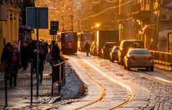 Холодный январский вечер во Львове (ФОТО)