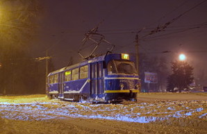 Одесский электротранспорт массово ночевал на улицах города