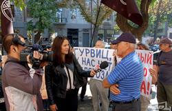 Одесские анархисты решили отправить Гурвица на пенсию (ФОТО)