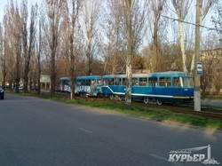 В Одессе начинают восстанавливать двухвагонные трамвайные составы (ФОТО)
