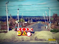 дорога к взорванному бандой моторолы мосту в славянске
