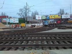 Одесская Пересыпь: реконструкция развязки скоростного трамвая продолжается