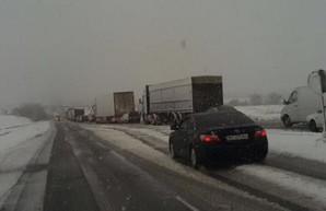 На трассе Одесса - Киев возникла многокилометровая пробка (ФОТО)