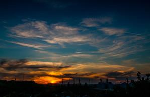 Красота неба Одессы в лучах уходящего дня (ФОТО)
