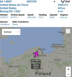 Большой брат следит: кграницам РФ вылетел самолёт разведчик ВВС США