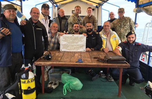 У берегов Одессы почтили память итальянских моряков с погибшего в 1920 году эсминца (ФОТО, ВИДЕО)