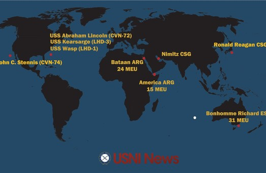 К Корейскому полуострову устремились корабли ВМС США