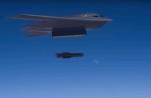 ВВС США показали бомбометание мощнейшей бомбы GBU-57