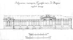 """Чертеж """"вокзального"""" павильона на Куликовом поле, точно такой же стоял на 16-й станции Фонтана"""