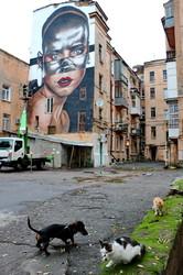 В центре Одессы создают интернациональный мурал (ФОТО)