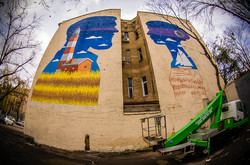 В Одессе заканчивают ещё один мурал в виде маяка (ФОТО)