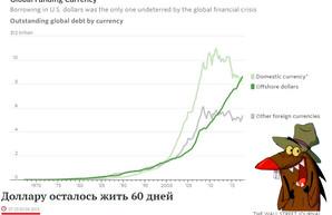 Доллар стал главной валютой международных займов!