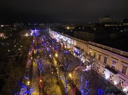 Предновогодняя феерия в Одессе: полет над вечерним городом (ФОТО, ВИДЕО)