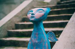 Шесть новых скульптур появились в Одессе: коты, балерина, кеды и автомобильчики (ФОТО)