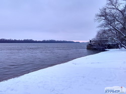 Зима в Одесской области: полет над заснеженными берегами самой большой реки Европы (ФОТО, ВИДЕО)