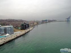 Январское море у берегов Одессы (ФОТО, ВИДЕО)