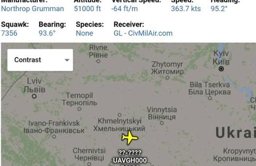 RQ-4A Global Hawk снова в небе над Украиной – всё как всегда