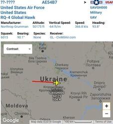 RQ4 Global Hawk продолжает свою миссию в небе над Украиной