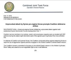 В Сирии ВВС США вновь нанесли удар по войскам Асада