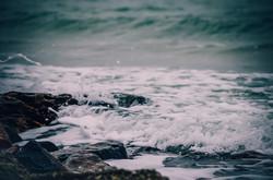 Февральское море в Одессе на Большом Фонтане (ФОТО)