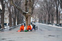 Центр Одессы в снегу (ФОТО)