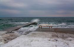 Красота зимних пляжей Одессы: Ланжерон и Отрада во льдах (ФОТО)