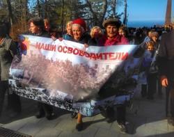 В Одессе пророссийские активисты провели акцию на Аллее Славы (ФОТО, ВИДЕО)