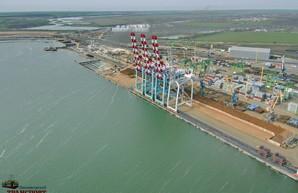 В порту под Одессой достраивают причал длиной 600 метров