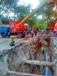 Как в Одессе раскопали улицу Пушкинскую для ремонта теплотрассы (ФОТО)