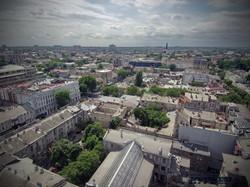 Панорама Одессы в сторону Греческой площади