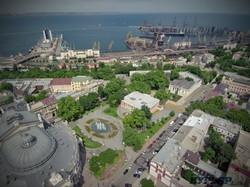 Театральная площадь с высоты 100 метров